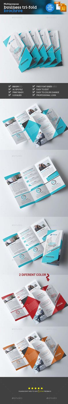 Trifold Corporate Brochure Template Vector EPS, AI #design Download: http://graphicriver.net/item/trifold-corporate-brochure/14058756?ref=ksioks