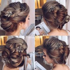 The best hair style video tutorials by Ulyana Aster. Learn step by step how to create the latest hair upstyles and receive certificates of completion. Vintage Hairstyles Tutorial, Fancy Hairstyles, Wedding Hairstyles, Prom Hair Updo, Bridesmaid Hair Updo, Hair Extensions Tutorial, Hair Upstyles, Crimped Hair, Pinterest Hair