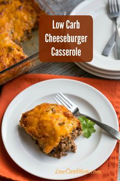 Bacon Cheeseburger Casserole | Low Carb Yum
