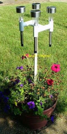 PVC Solar Light holders great for patio table