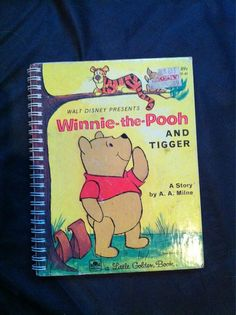 Winnie the Pooh Blank Book by Merrittorious on Etsy, $10.00