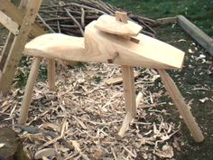 Simple rustic shave horse.