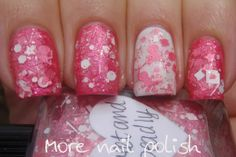 Lynnderella Sweet and Deadly over Picture Polish Electric Dreams and white