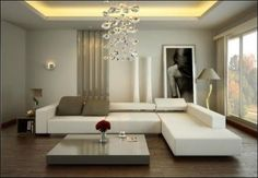 l shaped sofa in living room - Google Search