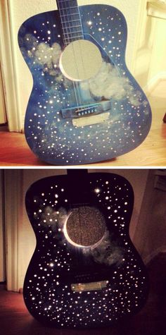 Upcycled guitar lamp
