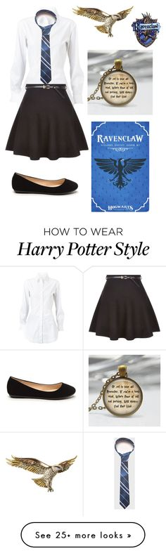 """I'm a Ravenclaw!"" by tiger123456789 on Polyvore featuring Alaïa and New Look"