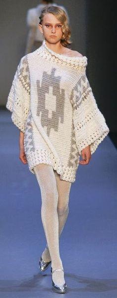 crochet sweater dress by Smaragdi