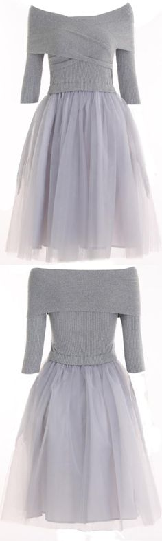 I'm always freezing and that's for me. I need it! Add this off the shoulder dress to your wardrobe from Cupshe.com