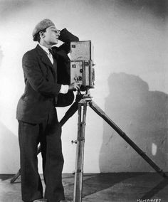Buster Keaton publicity for The Cameraman, 1928. Photos by Clarence Sinclair Bull