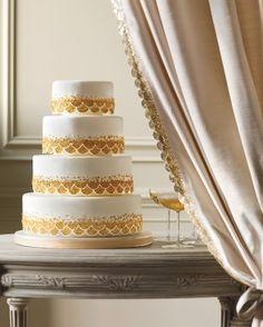 Gold Sequin wedding cake from Martha Stewart Weddings Cupcakes, Cupcake Cakes, Cupcake Ideas, Pretty Cakes, Beautiful Cakes, Wedding Themes, Wedding Cakes, Wedding Ideas, Wedding Favours