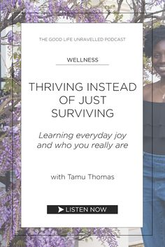 Tamu Thomas is a holistic life coach working with women in the transition period of late and She shares her wisdom on thriving over surviving in our lives. We also talk about boundaries, self-care, everyday joy, the mind-body connection, shadow work. You Really, Our Life, Personal Development, Life Is Good, Period, Connection, Life Quotes, Survival, Self