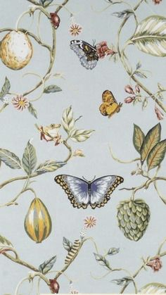 Chinoiserie wallpaper bathroom floral wallpapers ideas for 2019 Chinoiserie Wallpaper, Fabric Wallpaper, Pattern Wallpaper, Art Chinois, Art Japonais, House Illustration, Bathroom Wallpaper, Butterfly Pattern, Surface Pattern Design