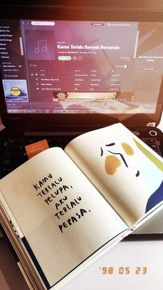 Quotes Rindu, Quotes Lucu, Book Qoutes, Quotes Galau, Quotes From Novels, Message Quotes, Story Quotes, Reminder Quotes, Self Reminder