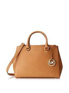 Women's Top-Handle Handbags - Michael Kors Sutton Medium Satchel PEANUT ** Visit the image link more details.
