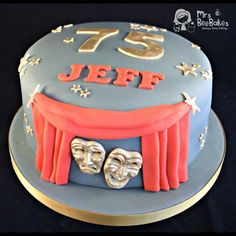 Jeff has worked in #theatre all his life... so a theatre-themed cake seemed more than fitting to help him celebrate his #75thbirthday