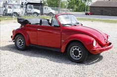 red vw convertible