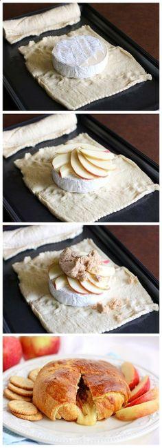 Receta de hojaldre con queso de cabra, manzana y foeigrass ♡