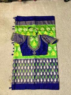 Indian Designer Sarees, Indian Sarees, Ikkat Silk Sarees, Rangoli Designs, Saree Collection, Saree Blouse, Blouse Designs, Blouses, Board