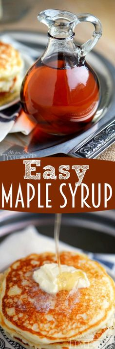 This easy recipe for maple syrup is perfect in a pinch! Nothing worse that making up a batch of pancakes and finding your all out of syrup! Just three ingredients and it tastes incredible! | eBay