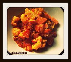 HandsoffmyFOOD!: Bloemkool curry met zoete aardappel