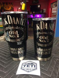 Jack Daniels Powder Coated Yeti Ramblers www.facebook.com/DoubleDironworks