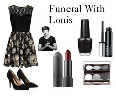"""Funeral With Louis"" by jazzybarrera on Polyvore featuring beauty, Mela Loves London, Lipsy, Clinique and OPI"