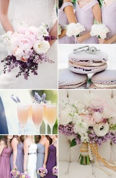 Beautiful lavender wedding color palette