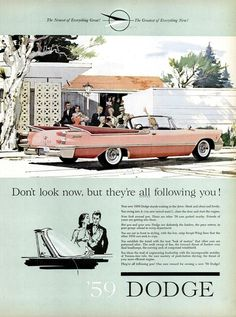 "1959 Dodge Custom Royal Lancer convertible...Chrysler DIDN'T always do ""fins"" right....that back end is strange...!"