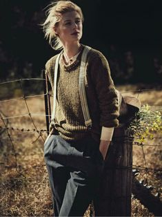 Elizabeth Debicki photographed by Will Davidson for Vogue Australia December 2012   styled by Gillian Davidson Who can imagine farm style to look so stylish