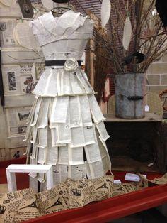 Paper dress mannequin