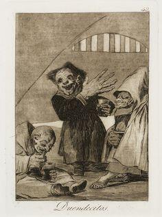 Francisco de Goya - Duendecitos, 1799. Los Caprichos nº 49.