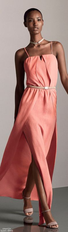 Halston Heritage Pre-Fall 2015 women fashion outfit clothing style apparel @roressclothes closet ideas