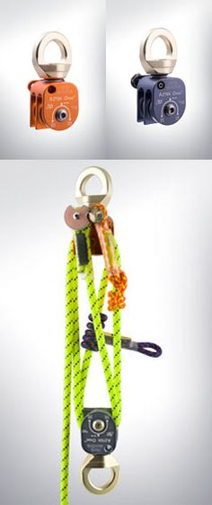 technical rescue, rope access and climbing hardware Camping Survival, Survival Skills, Survival Gear, Rock Climbing Gear, Climbing Rope, Block And Tackle, Rappelling, Apocalypse Survival, Paracord Projects