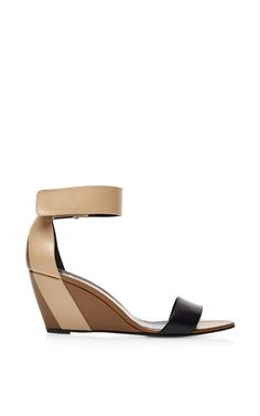 Color-Block Leather Wedge Sandals by Pierre Hardy Now Available on Moda Operandi