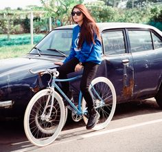 Fixie girl See more at http://www.fashionisly.com