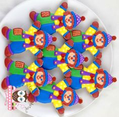 Gymboree Gymbo Cookies, Gymboree party, clown party, birthday party