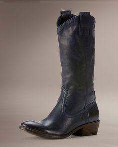 Frye Womens Carson Pull On Boot - Navy