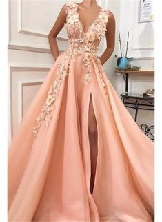 Graduation dresses long - Charming V neck Long Prom Dress,Tulle Evening Party Dress with Flower – Graduation dresses long V Neck Prom Dresses, Tulle Prom Dress, Maxi Dresses, Party Dresses, Long Dresses, Prom Dresses Flowers, Wedding Dresses, Summer Dresses, Bridesmaid Dresses