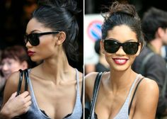 Chanel Iman. I want these sunglasses or similar? Know what they r?