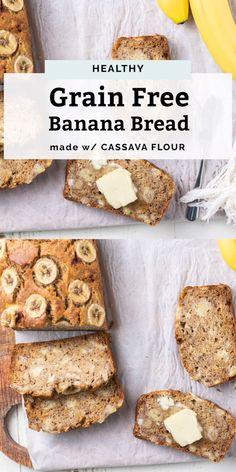 The BEST Banana Bread recipe, made with cassava flour! No one will know this banana bread is actually healthy. Flours Banana Bread, Paleo Banana Bread, Gluten Free Banana, Best Banana Bread, Banana Bread Recipes, Keto Bread, Banana Bread Recipe Maple Syrup, Banana Flour, Cassava Recipe