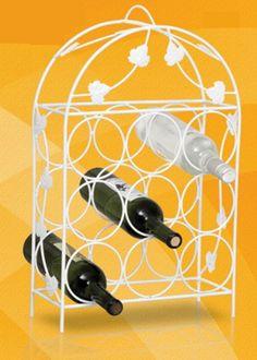 99Adega De Vinhos De Ferro 9 Garrafas - Suporte Garrafeira  Super Util e uma linda peça de decoração  59cm x 14 cm