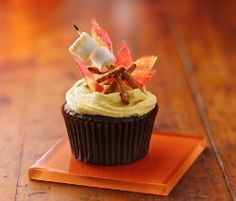 Fun cupcake recipes like Campfire S'mores Cupcakes will have you wanting to spend the summer in front of the oven rather than the actual campfire. These aren't just kids cupcakes, have fun this camping season!
