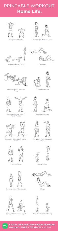 Home Life. – my custom workout created at WorkoutLabs.com • Click through to download as printable PDF! #customworkout