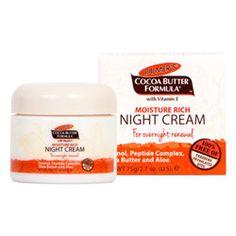 Palmer's Moisture Rich Night Cream 75 g Cocoa Butter, Shea Butter, Face Care, Skin Care, Vitamin E, Moisturizer, Cream, Health, Night