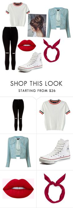 """Outfit"" by verrethannah ❤ liked on Polyvore featuring New Look, WithChic, Balmain, Converse and yunotme"