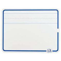 Quartet® Education Dry-Erase Lap Whiteboards With Quartet® Marker, White, Lined
