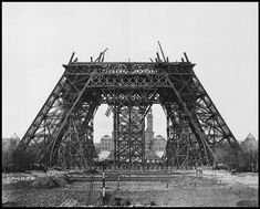 Construction of the Eiffel Tower, May 1888