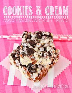 Cookies And Cream Marshmallow Crispy Treats
