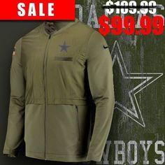 Dallas Cowboys 2018 Salute To Service USA Sideline Hybrid Full-Zip  Windbreaker Jacket d46eda393