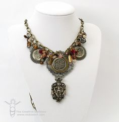 Smashed Button Necklace